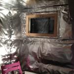 Saunan eristäminen alumiinipaperilla