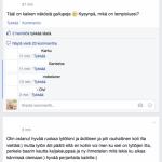 Iskät Facebook-ryhmästä erilaista vertaistukea