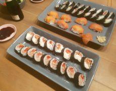 Testissä Lidlin Sushi Kit